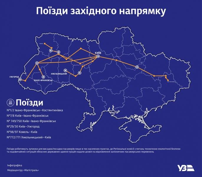 У перші рейси після карантину вирушили поїзди далекого сполучення у напрямку Заходу України