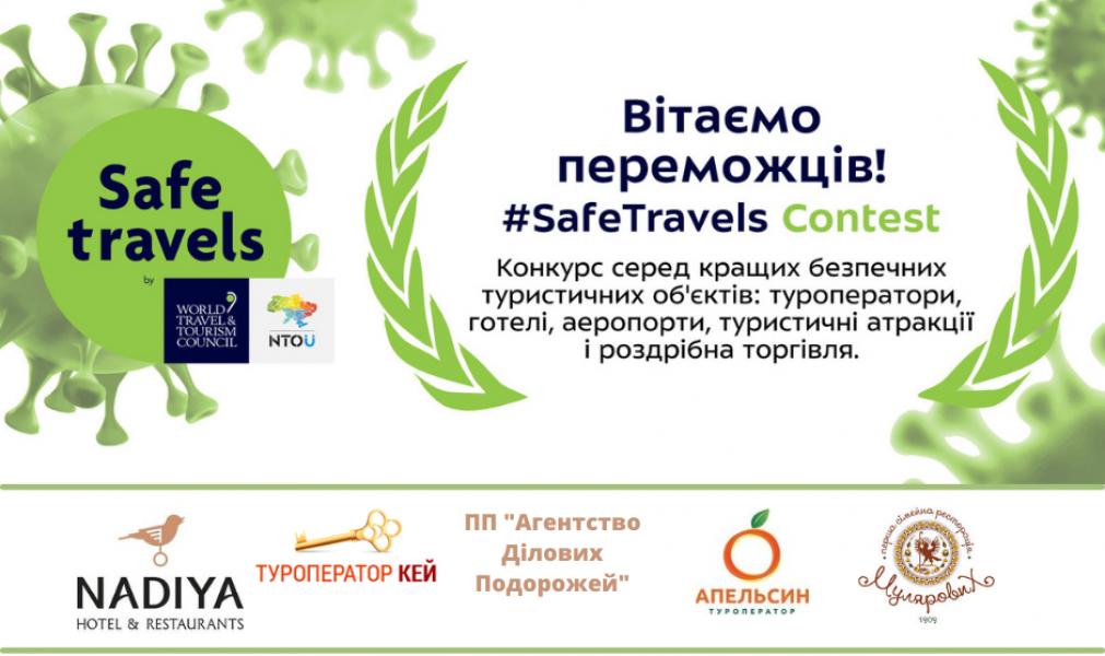 Вітаємо представників туристичних об'єктів Івано-Франківська з перемогою у конкурсі «#SafeTravels Contest»
